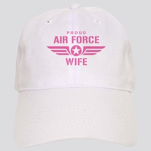 Proud Air Force Wife W [pink] Cap